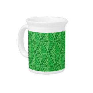 Hojas tropicales verdes de lujo jarrón