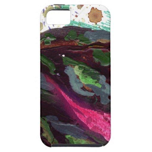 hojas verde oscuro iPhone 5 Case-Mate cárcasa