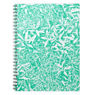 hojas (verde y blanco) libretas espirales