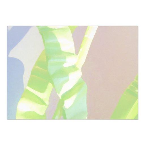 Hojas verdes claras comunicado personalizado