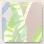 Hojas verdes claras posavaso