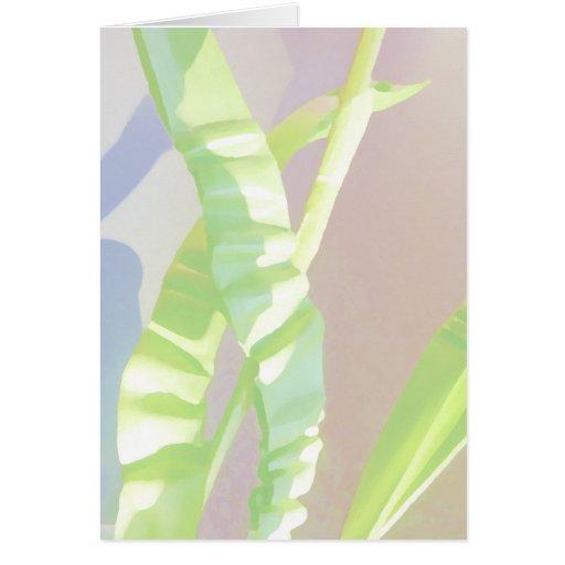 Hojas verdes claras tarjeta de felicitación
