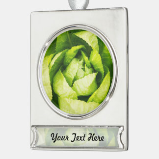 Hojas verdes de la lechuga con las gotas de agua adornos personalizables