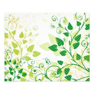 Hojas verdes de la primavera tarjeton