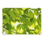 Hojas verdes de la primavera iPad mini fundas