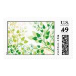 Hojas verdes de la primavera sellos postales