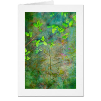 Hojas verdes de la primavera tarjeta pequeña