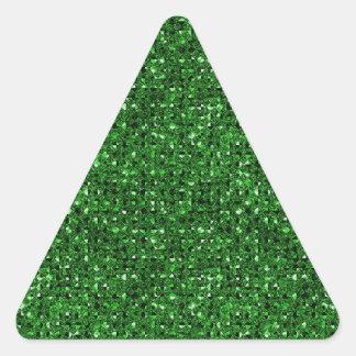 Hojas verdes del pegatina del triángulo del efecto