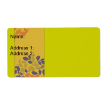 Hojas verdes púrpuras del naranja etiquetas