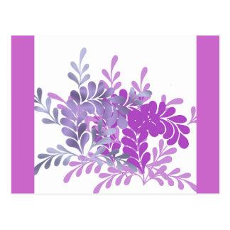 Hojas violetas del Ornamental Tarjetas Postales