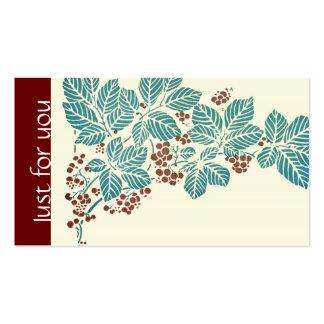 Hojas y bayas botánicas de la hiedra de la tarjetas de visita