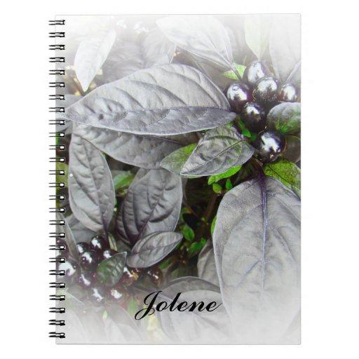 Hojas y bayas de la plata cuadernos