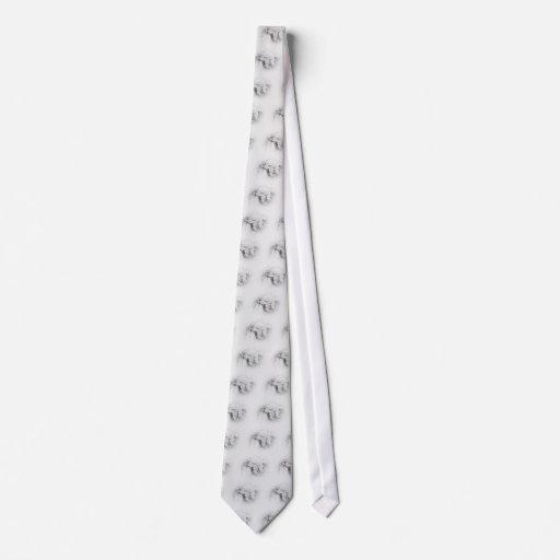 Hojas y bayas de la plata del lazo - grises claras corbata