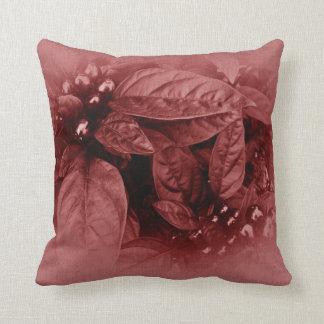 Hojas y bayas - rubí almohadas