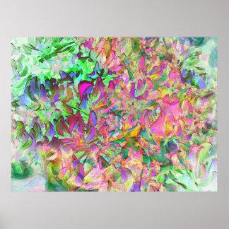 Hojas y colores poster