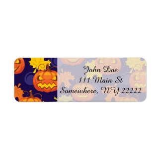 Hojas y Jack-O-Linternas de otoño Etiqueta De Remite