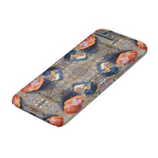 Hojas y modelo de las cáscaras del mar, II Funda De iPhone 6 Barely There
