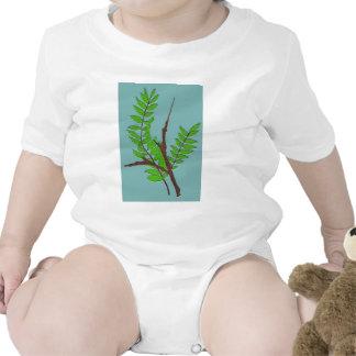 Hojas y ramitas trajes de bebé
