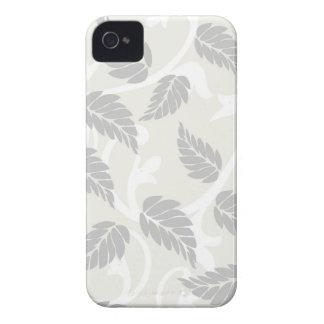 Hojas y remolinos neutrales iPhone 4 Case-Mate carcasas