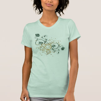 hojas y remolinos camisetas
