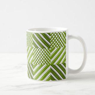 Hojas y tazas del café/del té/del chocolate