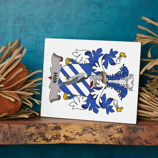Hok Family Crest Photo Plaques