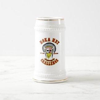 Hoka Hey Challenge Beer Stein 18 Oz Beer Stein
