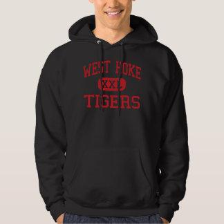 Hoke del oeste - tigres - centro - Raeford Sudaderas Con Capucha