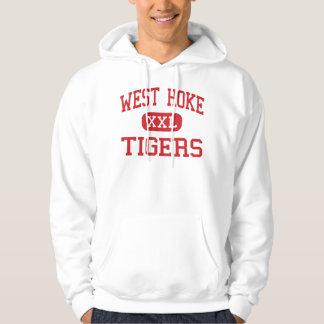 Hoke del oeste - tigres - centro - Raeford Suéter Con Capucha