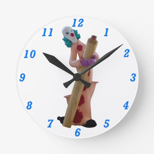 Hokey el payaso reloj redondo mediano