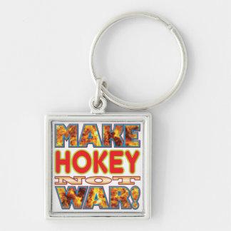 Hokey Make X Silver-Colored Square Keychain