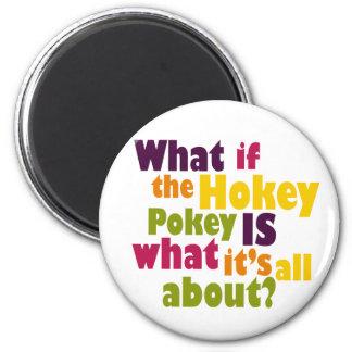 Hokey Pokey 2 Inch Round Magnet