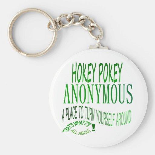 Hokey Pokey Anonymous Basic Round Button Keychain
