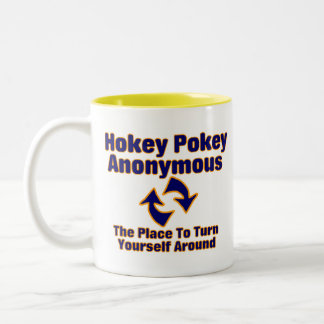 Hokey Pokey Anonymous Two-Tone Coffee Mug