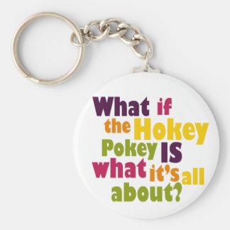 Hokey Pokey Basic Round Button Keychain