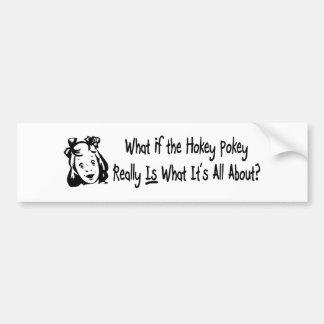 Hokey Pokey  Car Bumper Sticker