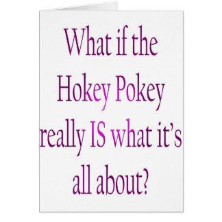 hokey pokey christmas card