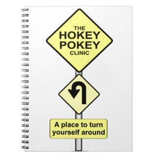 HOKEY POKEY CLINIC - TURN YOURSELF AROUND NOTEBOOK