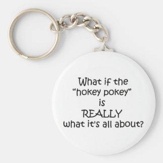 Hokey Pokey Funny Design Basic Round Button Keychain