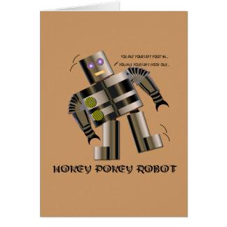 Hokey Pokey Robot Greeting Card