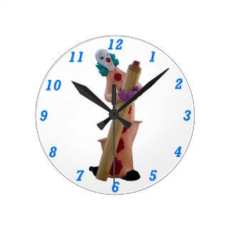 Hokey the Clown Round Wall Clock