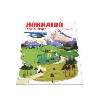 Hokkaido japan vintage vintage style travel poster canvas print