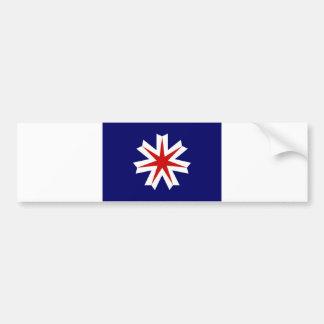 Hokkaido país-región de la prefectura de la bander pegatina de parachoque