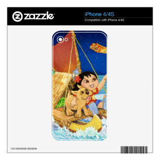 Hoku and Kolohe Pup Follow the Stars iPhone 4S Skin