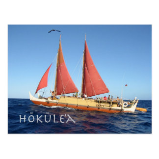 Hokulea Postcard, Ancient Hawaiian voyaging Canoe Postcard