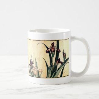 Hokusai Art painting Iris Flowers Coffee Mug