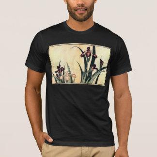 Hokusai Art painting Iris Flowers T-Shirt