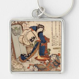 Hokusai Art painting Keychain