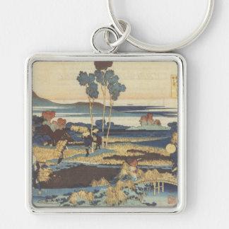 Hokusai Art painting Landscape Keychains