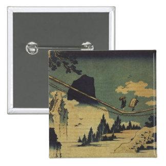 Hokusai Art painting Landscape Pinback Button